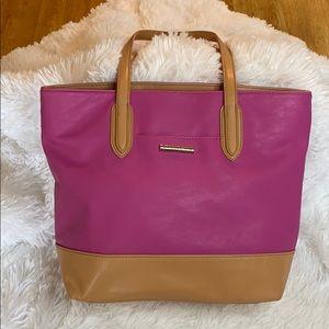 Pink and Tan Nicole Miller Bag / Tote